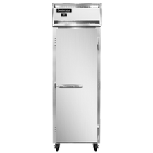Continental 1F-SA Freezer, reach-in, one-section, 20 cu. ft., self-contained refrigeration, stainless steel exterior, aluminum interior, standard