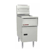 Southbend SB14R Fryer, gas, floor model, 40-50 lb. capacity, millivolt controls, thermo-safety pilot, built-in regulator, includes (2) twin baskets