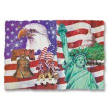 PLACEMAT AMERICAN FLAG (1000)
