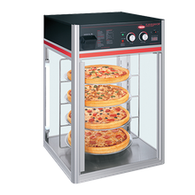 Hatco FSDT-1-120-QS Flav-R-Savor holding & display cabinet, (1) door, (4) tier circle rack with motor, with 6 ft cord & plug