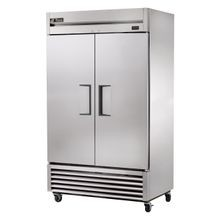 TRUE T-43-HC Refrigerator, Reach-in, two-section, stainless steel doors, stainless steel front, aluminum sides, aluminum interior with stainless