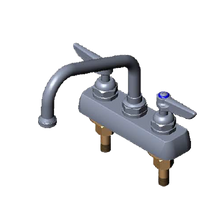 T&S Brass B-1110-M Faucet Workboard, deck mounted, bronze body, removable seats, 6-1/2