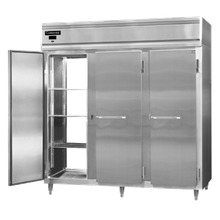 Continental DL3WE-SS-PT Designer Line Heated Cabinet, extra wide pass-thru, three section, stainless steel exterior & interior, standard depth