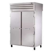 TRUE STR2RPT-2S-2G-HC SPEC SERIES Pass-thru Refrigerator, two-section, stainless steel front & sides, (2) stainless steel doors front & (2) glass