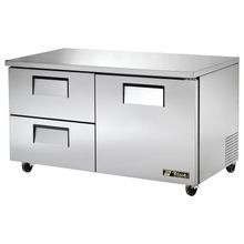 TRUE TUC-60D-2-HC Undercounter Refrigerator, 33-38 F, stainless steel front, top & sides, (1) stainless steel door, (2) shelves, (2) drawers each