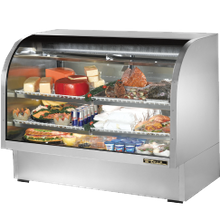 TRUE TCGG-60-S-LD Curved Glass Deli Case, 60-1/4