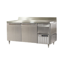 Continental DLRA68-SS-BS Designer Line Refrigerated Base Worktop Unit, 68