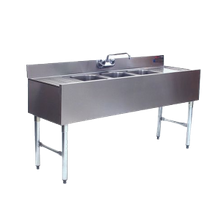 Eagle 1800 Series Underbar Three Compartment Sink Unit 60