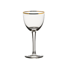 Steelite 480142R351 Nick & Nora Cocktail Glass, 5-1/2 oz., (H 5-7/8; M 2-3/4; T 2-3/4; B 2-5/8), gold rim, Rona, Gold Miners (24 ea/cs)