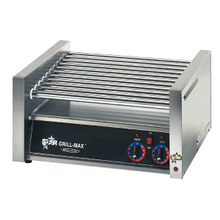 Star 50C Grill-Max Hot Dog Grill, roller-type, stadium seating, chrome-plated rollers, capacity 50 hot dogs, analog controls for front and rear