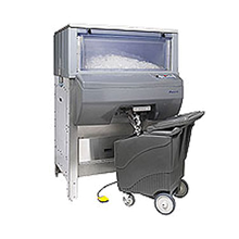 Follett DB1000 Ice Pro Automatic Ice Bagging & Dispensing System, 1000 lb. capacity ice storage with auto agitation, control panel, foot pedal