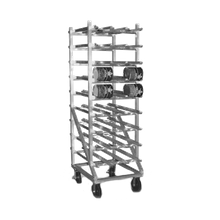 Eagle OCR-10-9A Panco Can Rack, full size, mobile design, self feeding gravity fed shelves, designed for (162) #10 or (216) #5 cans, all welded