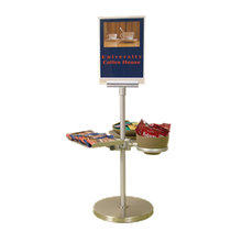 BSI ZS-100K-7 ZSpace Small Beverage Display Kit #7, includes (1) EZ-Clamp, (1) aluminum tray (1) medium Flexi-Ring & (1) large Flexi-Ring, (1) post