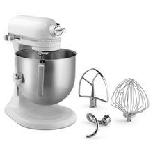 KitchenAid Commercial Countertop Mixer, 8 quart capacity, white base, stainless steel mixing bowl