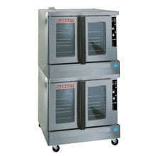 Blodgett ZEPH-100-G-ES DBL Zephaire Convection Oven, gas, double-deck, standard depth, capacity (5) 18