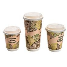LID HOT CUP PLA COMPOSTABLE F/10,12,16,20 OZ CUP (1000)