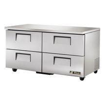 TRUE TUC-60D-4-HC Undercounter Refrigerator, 33-38 F, stainless steel top & sides, (4) drawers each accommodate (1) 12x20x6 food pan (NOT included)