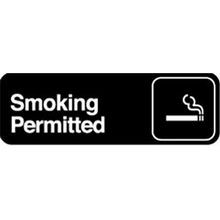 SIGN 3X9 SMOKING PERMITTED