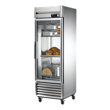 TRUE TH-23G Heated Cabinet, one-section, glass door, stainless steel front, aluminum sides, stainless steel interior, (3) chrome shelves,4