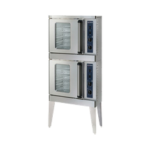 Alto-Shaam 2-ASC-2E/STK Platinum Series Convection Oven, Electric, stacked, half-size, manual controller, temperature range 100-500 F, glass door