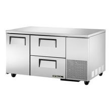 TRUE TUC-60-32D-2 Deep Undercounter Refrigerator, 33-38 F, stainless steel top & sides, (1) stainless steel door, (2) shelves, (2) drawers each