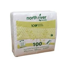 NAPKIN DINNER 2 PLY WHITE 15X15 NORTH RIVER (3000)