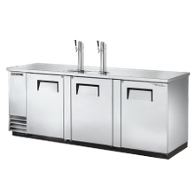 TRUE TDD-4-S-HC Draft Beer Cooler, (4) keg capacity, stainless steel counter top, stainless steel exterior & (3) full doors with locks, galvanized