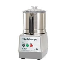 Robot Coupe R401B Cutter/Mixer, 4.5 qt. stainless steel bowl with handle,