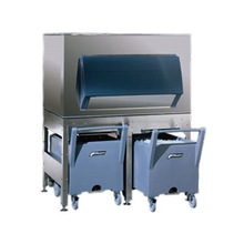 Follett ITS2250SG-60 ITS Ice Storage & Transport System, elevated bin, 2133 lb. bin storage, for cube or flake ice, incl: (2) polyethylene carts with