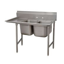 Advance Tabco 9-2-36-24L Regaline Sink, 2-compartment, with left-hand drainboard, 20