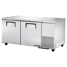 TRUE TUC-67 Deep Undercounter Refrigerator, 33-38 F, stainless steel top & sides, (2) stainless steel doors, (4) PVC coated wire shelves, aluminum
