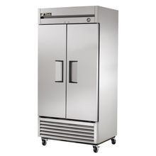 TRUE T-35-HC Refrigerator, Reach-in, two-section, stainless steel doors, stainless steel front, aluminum sides, aluminum interior with stainless