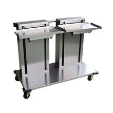Lakeside 2818 Tray & Glass/Cup Rack Dispenser, cantilever style, mobile, (2) self-leveling tray platforms, for 14