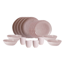 Earth Dinnerware Set, Pink, Designed by Robert Gordon Australia