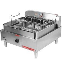 Star 530FF Star-Max Fryer, electric, countertop, 30 lb. capacity, single stainless steel frypot, twin baskets, snap action thermostat with hi-limit