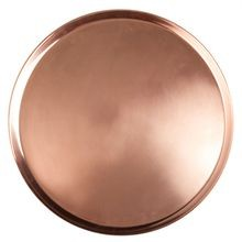 Copper Round Tray, 14-1/2