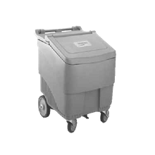 Metro IC125 Ice Cart, 125 lb. capacity, 3-position lid, drain self, rotationally molded gray polyethylene construction, 3/4