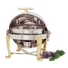 CHAFER ROLL TOP ROUND WITH BRASS