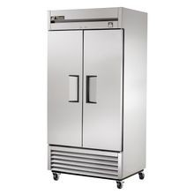 TRUE TS-35F-HC Freezer, Reach-in, two-section, -10F, (2) stainless steel doors, stainless steel front/sides, stainless steel interior, (6) gray PVC
