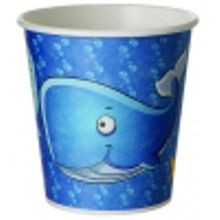 KIDS CUP PAPER 10OZ WHALE DESIGN COMPOSTABLE (1000)