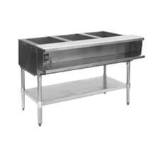 Eagle AWT3-NG-1X Water Bath Hot Food Table, natural gas, open base, 48