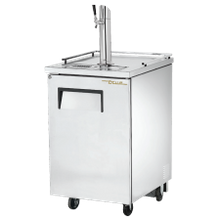 TRUE TDD-1-S-HC Draft Beer Cooler, (1) keg capacity, stainless steel counter top, stainless steel exterior & (1) door with lock, galvanized interior