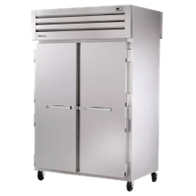 TRUE STG2RPT-2S-2G-HC SPEC SERIES Pass-thru Refrigerator, two-section, stainless steel front, aluminum sides, (2) stainless steel doors front, (2)