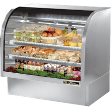 TRUE TCGG-48-S-LD Curved Glass Deli Case, 48-1/4