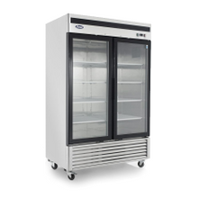 Atosa MCF8707 Refrigerator Merchandiser, two-section, self-contained refrigeration, 47.1 cu. ft. capacity