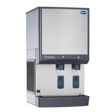 Follett 25CI425A-S Symphony Plus Ice & Water Dispenser, countertop, SensorSAFE dispense, removable ice machine, automatic load, Chewblet nugget