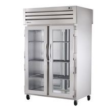 TRUE STR2HPT-2G-2S SPEC SERIES Pass-thru Heated Cabinet, two-section, stainless steel front & sides, (2) glass doors front, (2) stainless steel