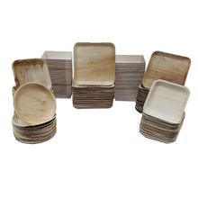 Verterra Eco-Friendly 'Fallen Palm Leaves' Dinnerware Package