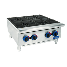 Globe C24HT Chefmate Hot Plate, countertop, natural gas, (4) burner, 24