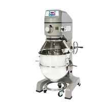 Globe SP60 Planetary Mixer, floor model, 60 qt. 304 stainless steel bowl, #12 attachment hub, (3) fixed-speeds, digital controls with 60-minute timer